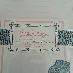 Lilly Pulitzer Notepad and Sticky Notes